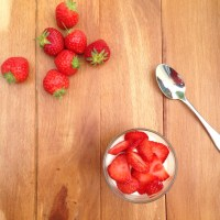 Elderflower Panna Cotta with Strawberries