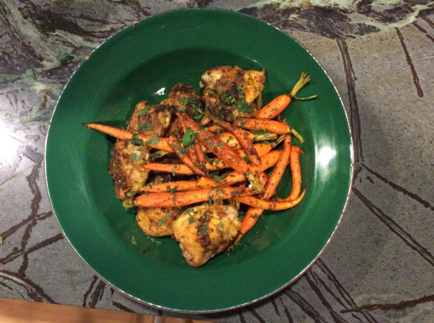 October in the kitchen – Slow Baked Chicken with Carrots, Turmeric, Cumin, and Coriander