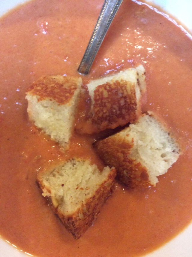 Crispy Grilled Cheese Croutons
