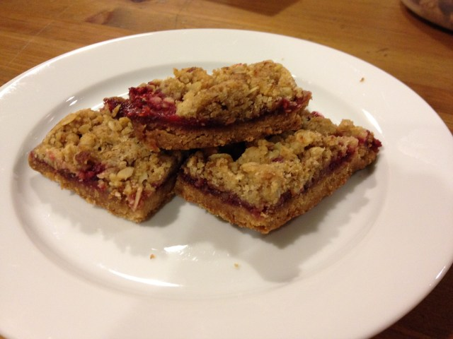 Raspberry bar cookies