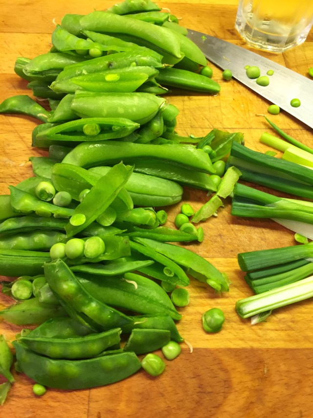 Snap Peas and Scallions