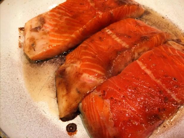 April in the Kitchen – Teriyaki Salmon with Spring Vegetables