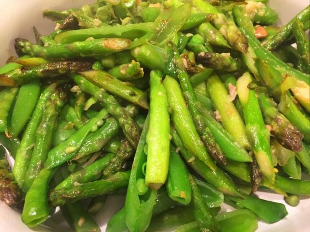 Asparagus and Snap Peas