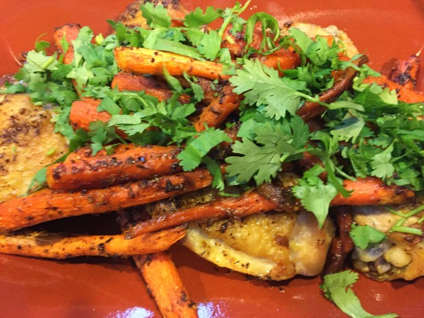 September in the Kitchen – Chicken and Carrots with Cumin, Coriander, and Turmeric