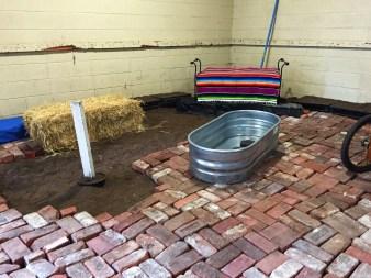 Laying bricks (my poor back)