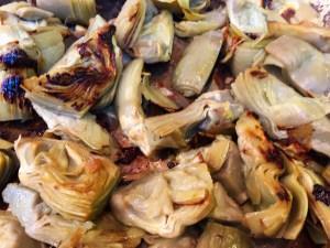 Sauteed artichoke hearts