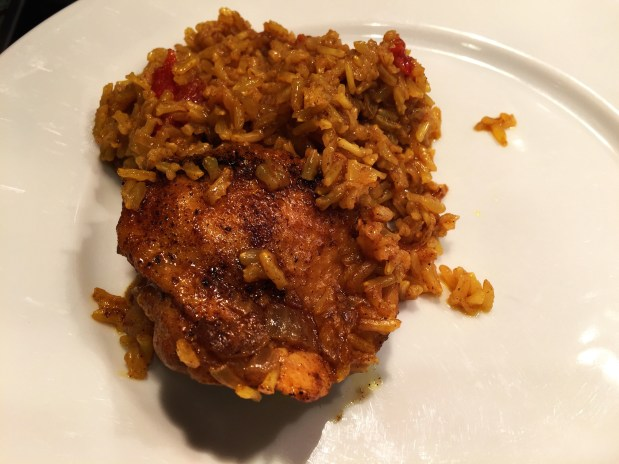 February – Turmeric Chicken and Rice