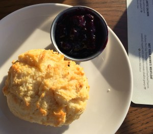 Southern Biscuits and Plum Conserve