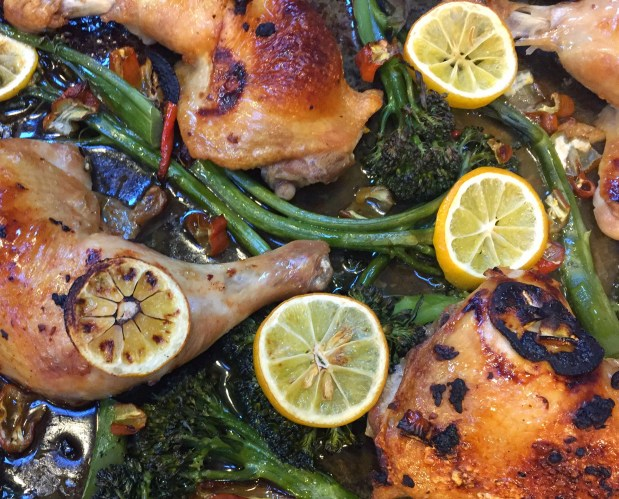 August – One Pan Chicken and Broccolini Dinner