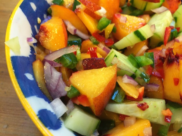 August – Fruit and Cucumber Salsa