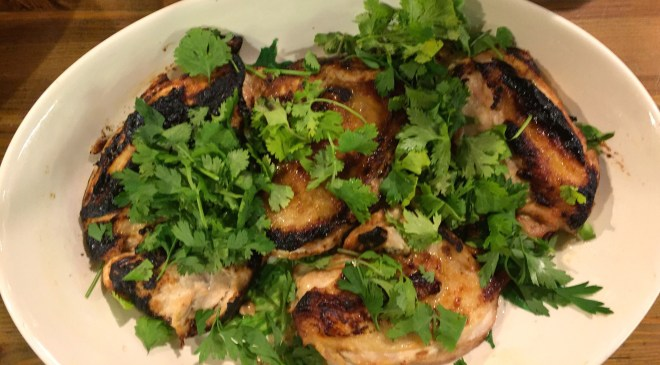 Boneless chicken breast with chili lime marinade