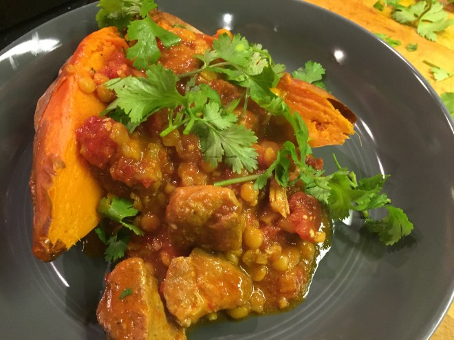 Coconut Pork Stew with Garam Masala and Sweet Potato