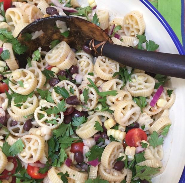 August – Corn Cob Pasta Salad