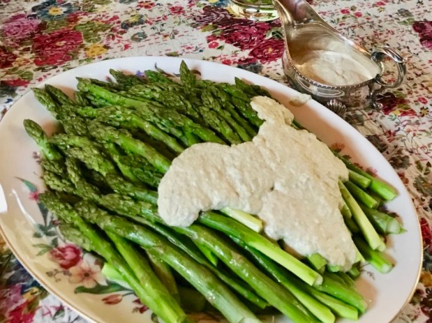 May – Roast Asparagus with Pickled Asparagus Sauce