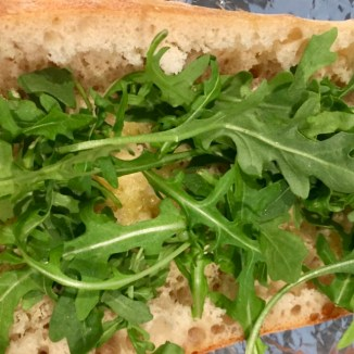 Arugula on the bottom