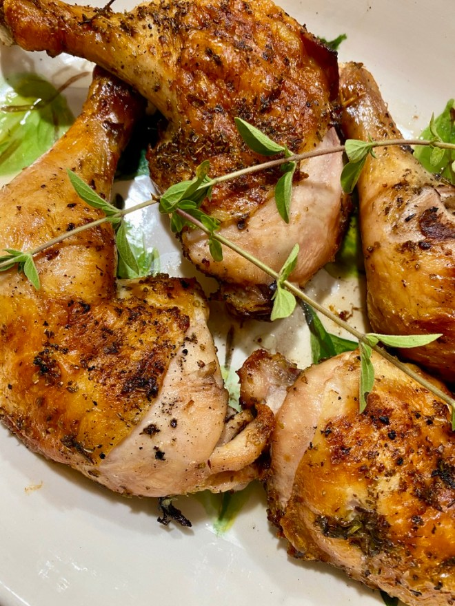 Grilled Greek Chicken Legs