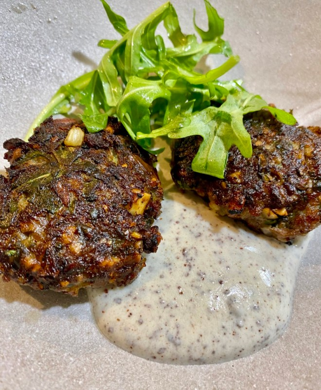 Lamb and Almond Patties with Sumac Yogurt Sauce