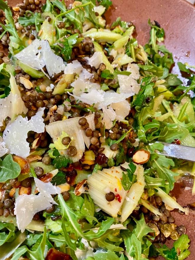 Celery and Green Lentil Salad