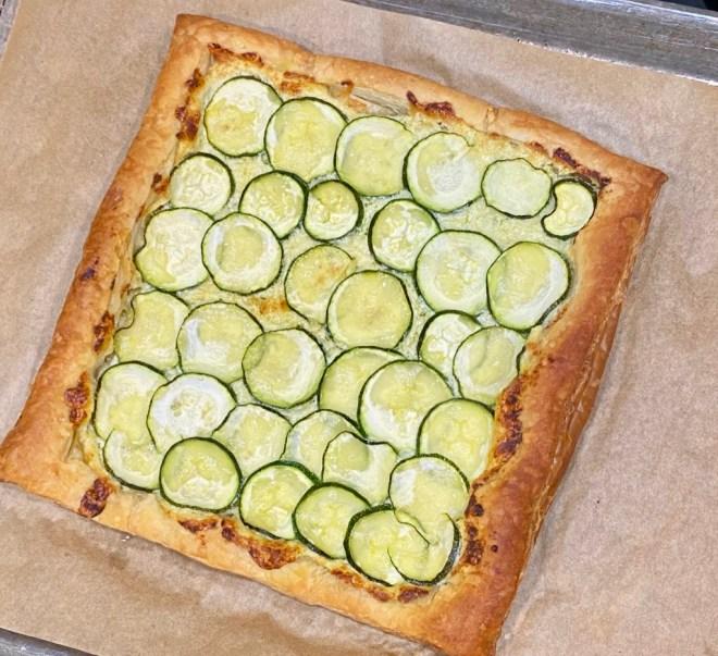 Puff Pastry Zucchini Tart