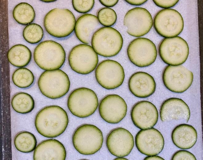 Draining zucchini