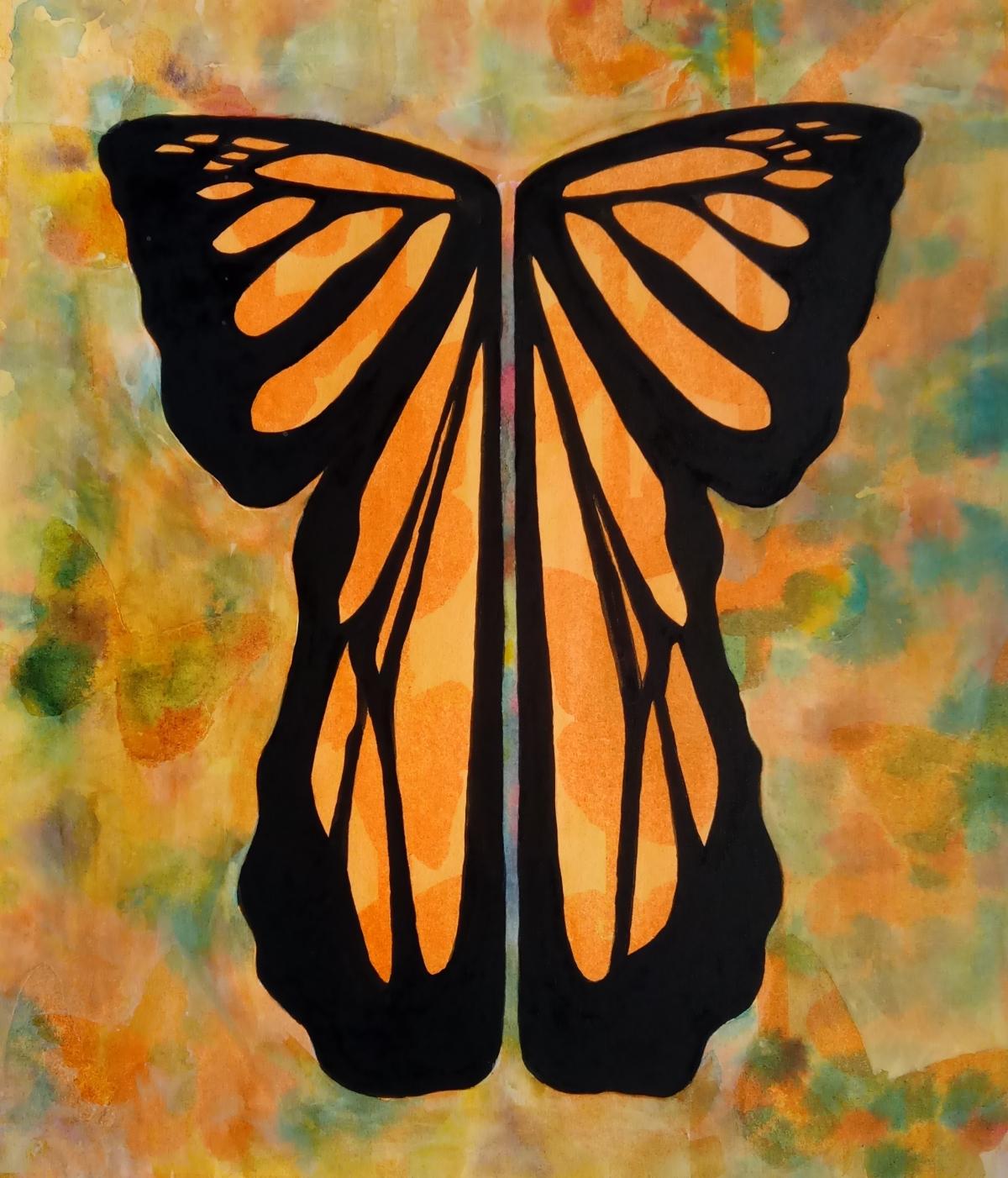 butterfly shaped kimono