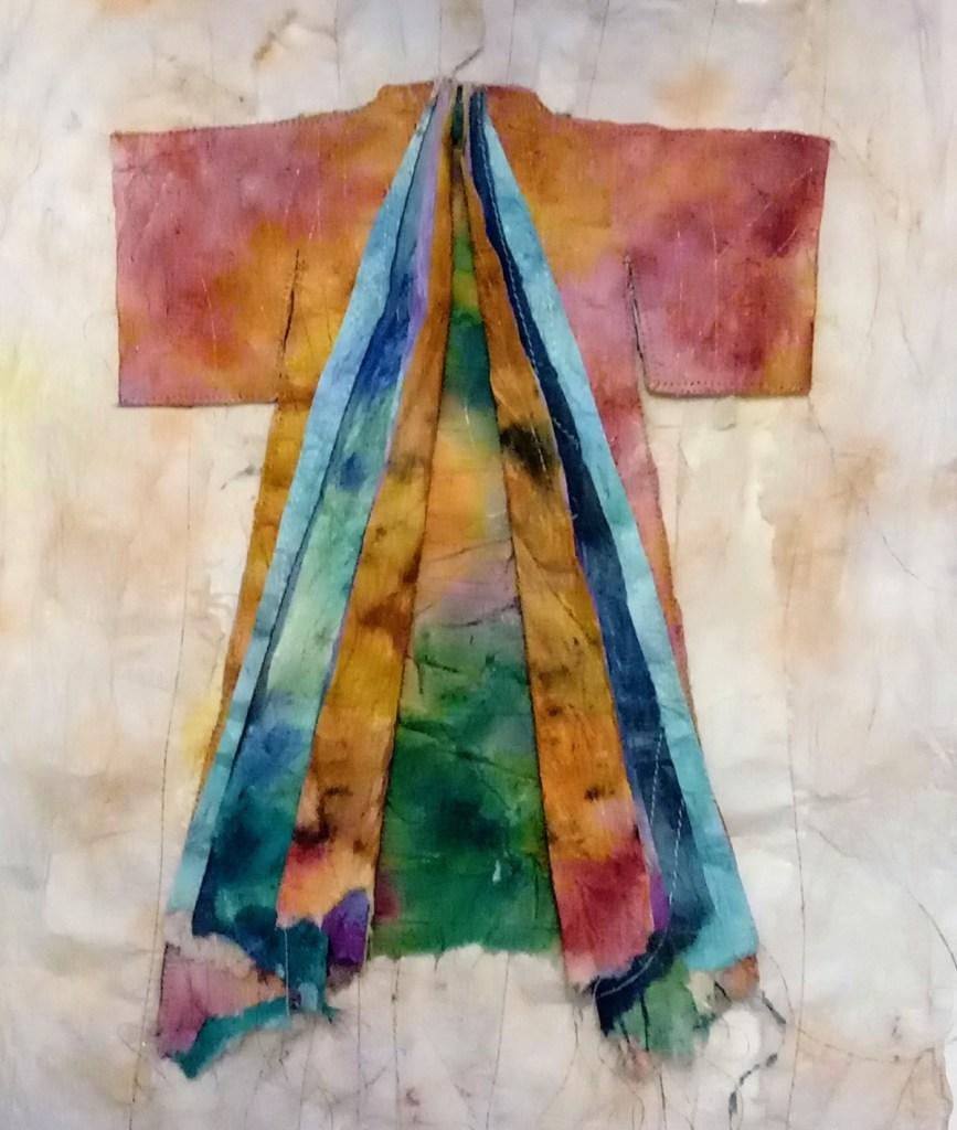 rice paper layered kimono