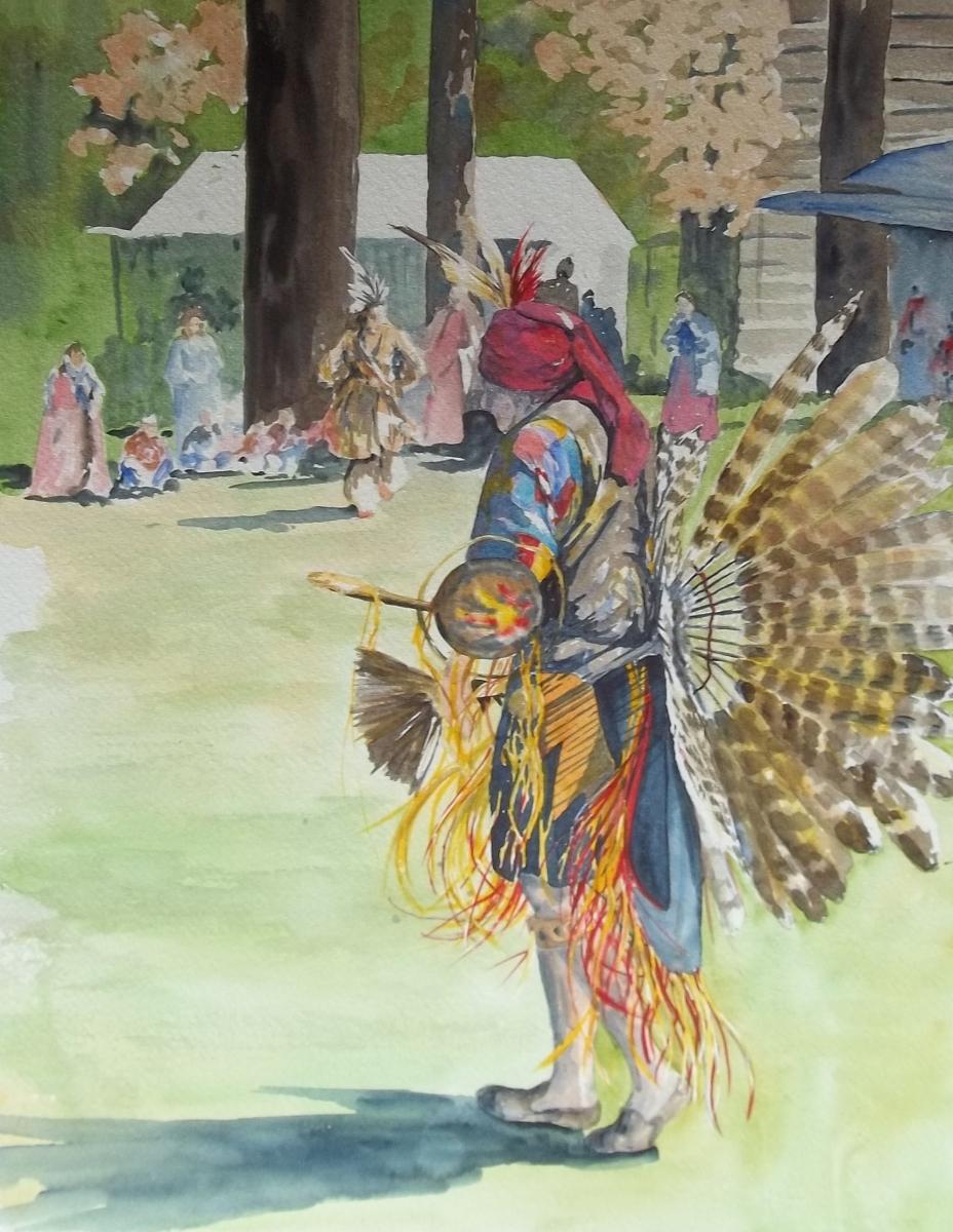 colorful Native American regalia