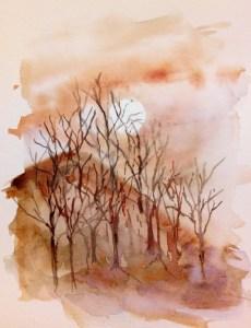 February moonrise
