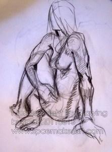 Monday night life drawing  - 20110815