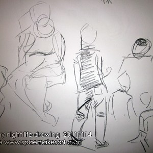 It's time for another round of Monday night life drawing!