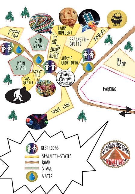 SPAGHETTIFEST 14  MAP