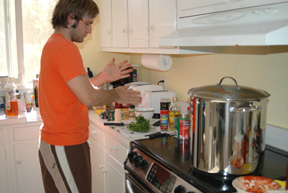 Making the Sunday Gravy!