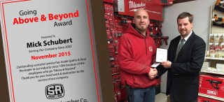 Mick Above and Beyond Award Stockton
