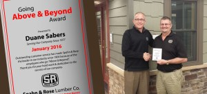 Duane Above and Beyond Award-Dubuque