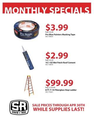 April Monthly Specials