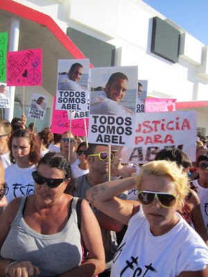 Demonstration Ushuaia hotel ibiza