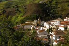 Spain-Andalusia-Malaga- village of El Borge in the Axarquia mountains.