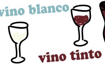 スペイン語 赤ワイン 白ワイン インク