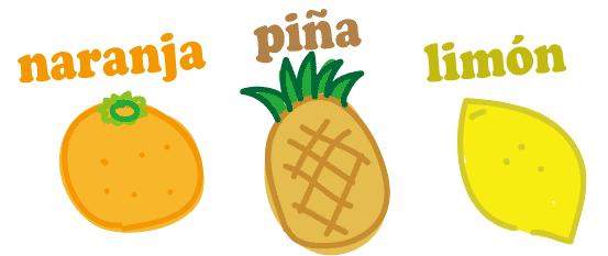 スペイン語 オレンジ パイナップル レモン