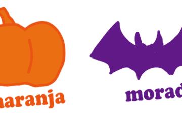 スペイン語 オレンジ色 紫色