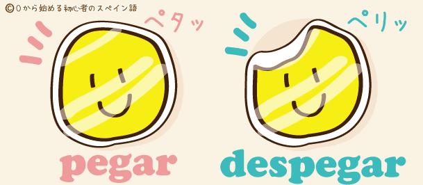 スペイン語 pegar despegar