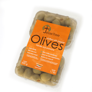 Green Olives Stuffed with Peppers