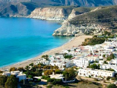Playa de agua amarga en Nijar, Almeria