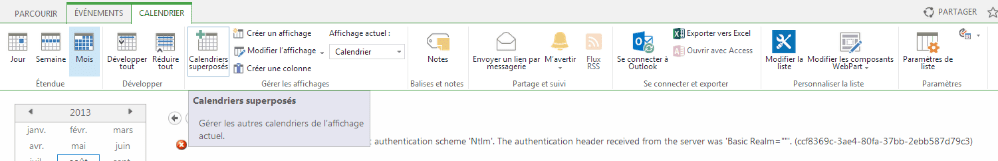 Ajouter un calendrier Exchange à SharePoint 2013 (1/3)
