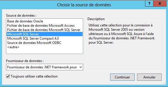 Création d'un type de contenu externe et utilisation du secure store service  via Visual Studio 2012 (5/6)