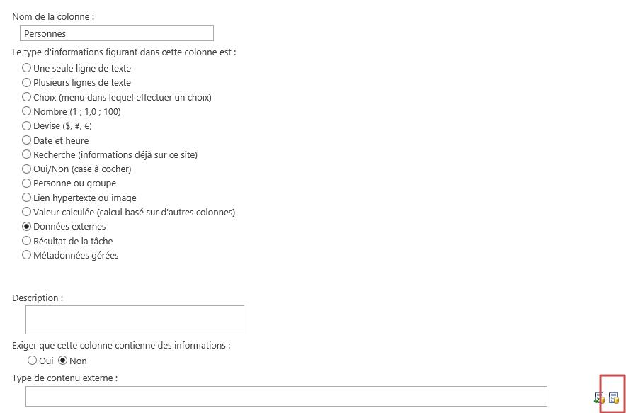 Créer une colonne de données externes et la référencer dans une liste (1/6)