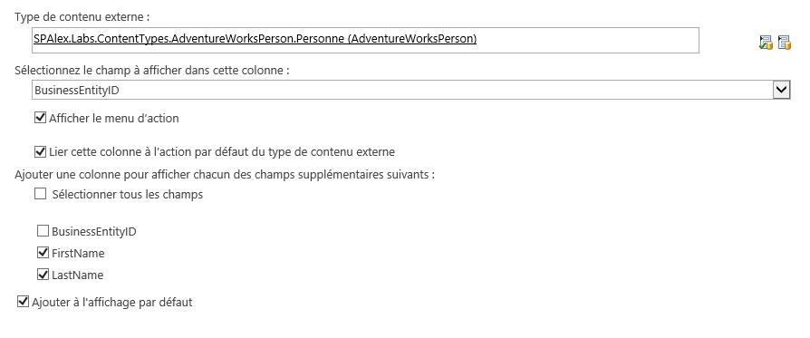 Créer une colonne de données externes et la référencer dans une liste (2/6)