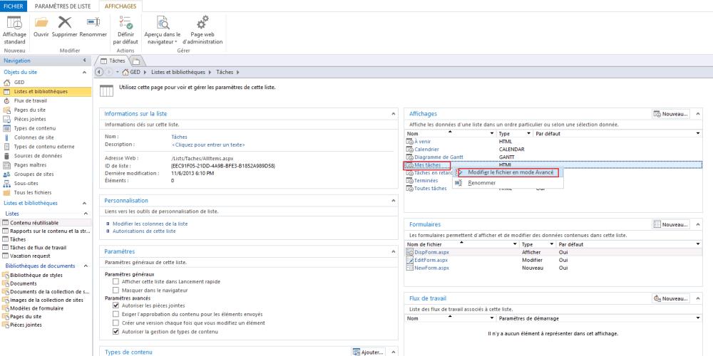 Comment afficher les tâches affectées à un utilisateur SharePoint et à ses groupes (2/6)
