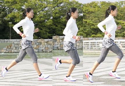 正しいジョギングフォームの女性2