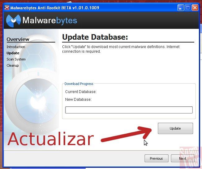 actualizar Malwarebytes Anti-Rootkit
